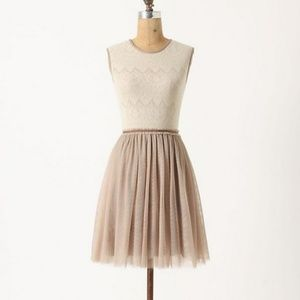 ANTHROPOLOGIE Weston Wear Dulcie Dress Lace Tulle